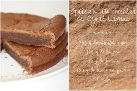 comment cuisiner un gateau au chocolat gâteau au chocolat de cyril lignac les 5 sens en cuisine