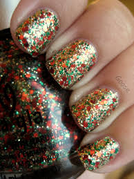 christmas glitter nails how you can do it at home pictures