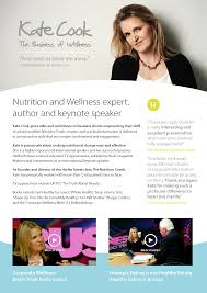 Healthy Choices At Work Corporate by Food Consultancy Kate Cook Corporate Wellness Expert Speaker