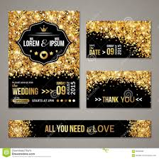 black and gold wedding invitations wedding invitation gold confetti and black background stock vector
