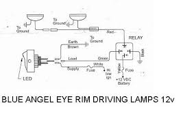 can i get a wiring diagram to wire up two angel eye spot lights