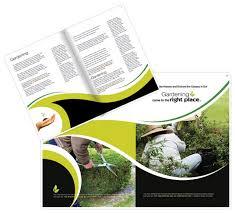 brochure design software gardening brochure templates