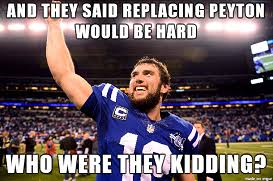 Andrew Luck Memes - 2014 2015 nfl playoff battle of memes andrew luck vs peyton