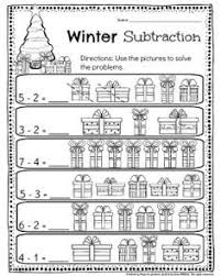 kindergarten math and literacy worksheets for december literacy