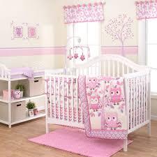 Pink And Teal Crib Bedding Baby Nursery Owls Chevron Purple Pink 3 Crib