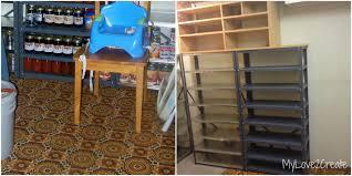 Metal Utility Shelves by Storage Shelves A Tutorial My Love 2 Create