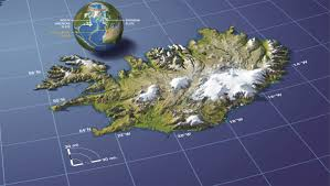 Map Of Area Codes Three Dimensional Relief Map Of Iceland 1200x678 Mapporn