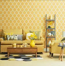 wohnzimmer tapeten design wohnzimmer tapeten design geometrisch muster in gelb dekor