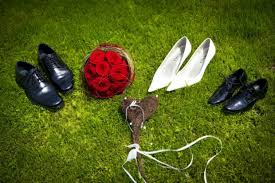 wedding shoes for grass free stock images wedding shoes in the grass field elsoar