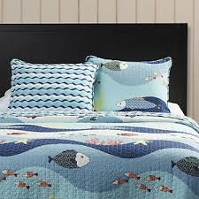 Fish Duvet Cover Kids Quilt Set Twin Fish Reversible Nautical Ocean Shams Bedding