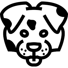 easy outlines of animals dog face outline front free animals icons