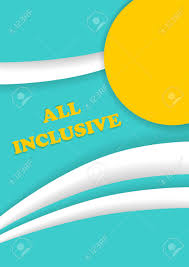 all inclusive leaflet summer beach resort vacation brochures