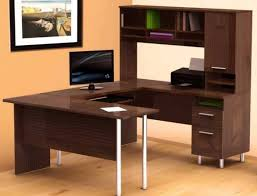 Affordable Reception Desk Desk Cool Wooden Computer Desk With L And White Chairs Modern