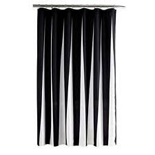 And Black Fabric For Curtains Striped Fabric Shower Curtains Ebay