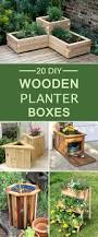 diy wooden planter boxes for your yard or patio