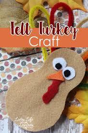 felt turkey craft for turkey craft thanksgiving and felting