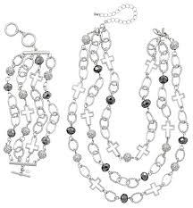 bracelet clasp designs images Joyful necklace and bracelet imitation rhodium plated glass png