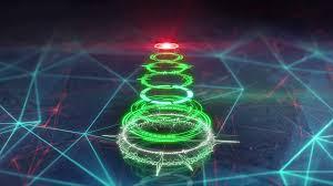 christmas tree futuristic style loop animation 4k 4096x2304