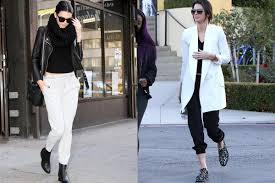 how to wear sweats on thanksgiving kendall jenner style vogue