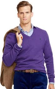 purple sweater polo ralph wool v neck sweater where to buy how to wear