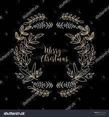 merry christmas modern christmas badge christmas greeting card happy stock vector