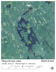 map of camden maine lakes of maine lake overview megunticook lake camden