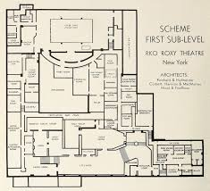 Grand Arena Grand West Floor Plan by R K O Roxy Center Theatre Vanished Nyc Art Deco Part 2