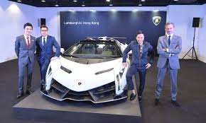 lamborghini veneno owner white veneno roadster presented at lamborghini hong kong