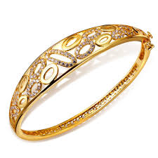 ladies gold bracelet bangle images 2018 new bracelet bangles for girl gold plated cubic zirconia jpg