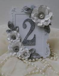 25th Wedding Anniversary Table Centerpieces by Silver Anniversary Gift 25th Wedding By Buttonartbysophie On Etsy