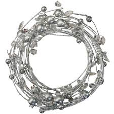 shop for the silver coiled berry garland by ashland at
