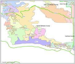 santa barbara california map santa barbara ca zip codes