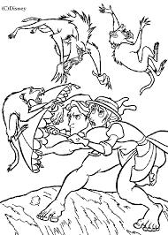 coloring malicious monkeys tarzan jane picture