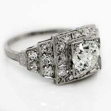antique design rings images Antique diamond step design platinum ring jpg