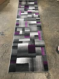 Purple And Black Area Rugs Modern Runner Area Rug Purple Grey And Black Trendz