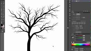 bare tree adobe illustrator cs6 tutorial quick and easy way how