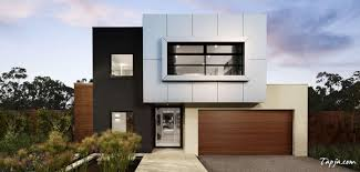 contemporary facades of small houses design with elegant garage as