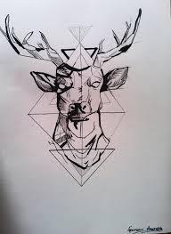 geometric deer by evangeliager on deviantart