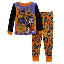boy paw patrol halloween glow in the dark top u0026 pants pajama set