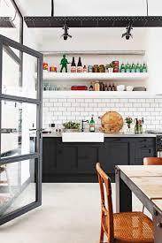 cabinets u0026 drawer industrial kitchen cupboards white subway tile