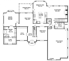 5 bedroom one house plans floor plan single porch dimensions garage office