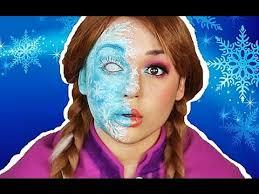 zombie cinderella tutorial anna half frozen makeup tutorial frozen video fanpop