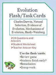 evidence of evolution task cards life science evolution