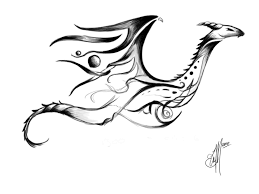 tribal dragon tattoo concept by etheet on deviantart