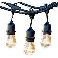 String Lights Outdoor Walmart Newhouse Lighting Outdoor Weatherproof Commercial Grade String