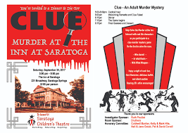 clue murder at the inn at saratoga saratoga children u0027s theatre