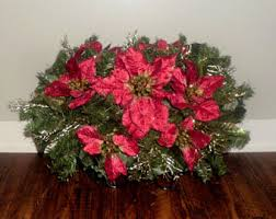 Christmas Grave Decorations Headstone Flowers Etsy