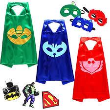 zaleny pj masks costumes kids 3 catboy owlette gekko