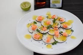 cuisiner les radis noirs le carpaccio radis noir et dos de saumon lovalinda