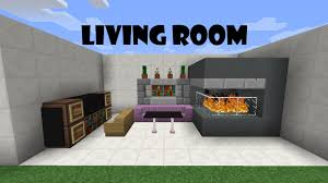 minecraft furniture livingroom tutorial 4 youtube